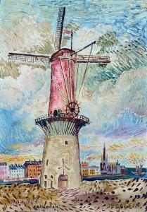 windmill-in-rotterdam-1955