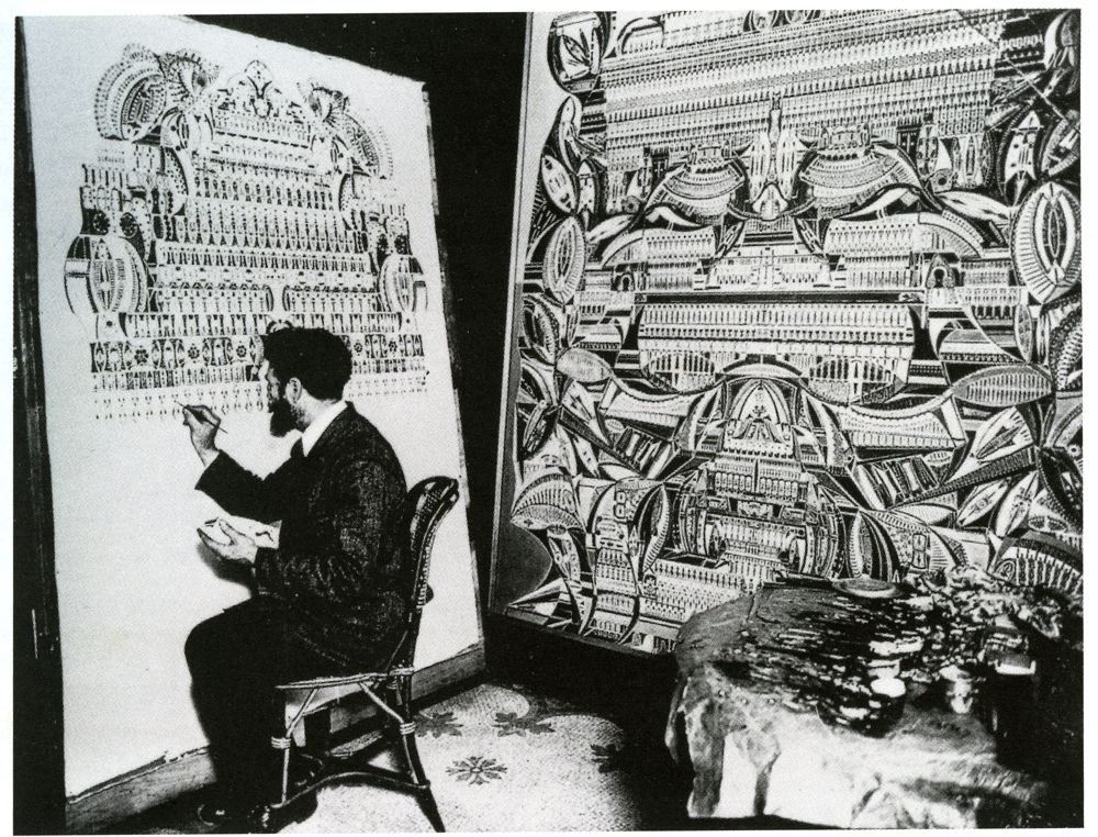 augustin lesage at work in his studio